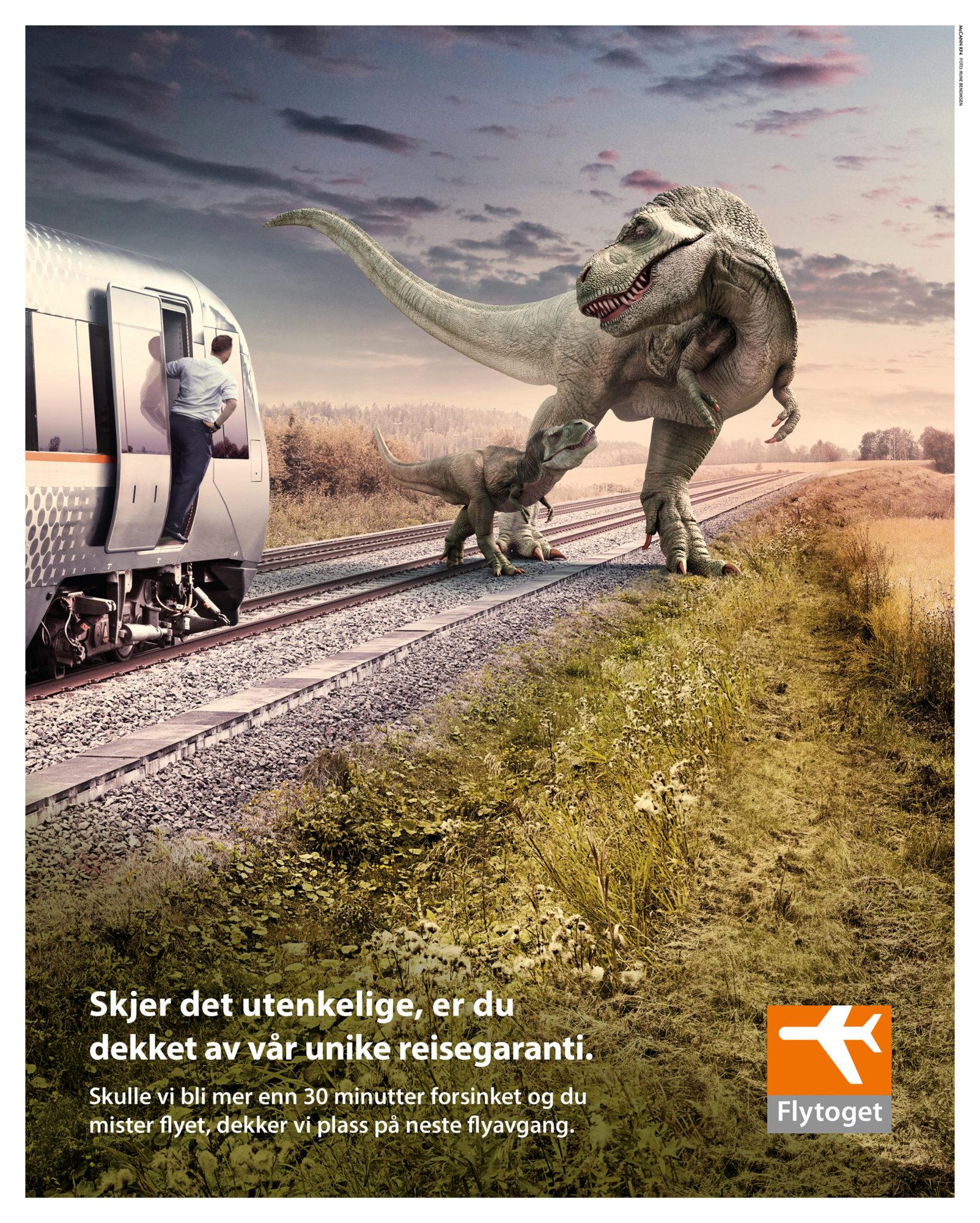Annonse for flytoget