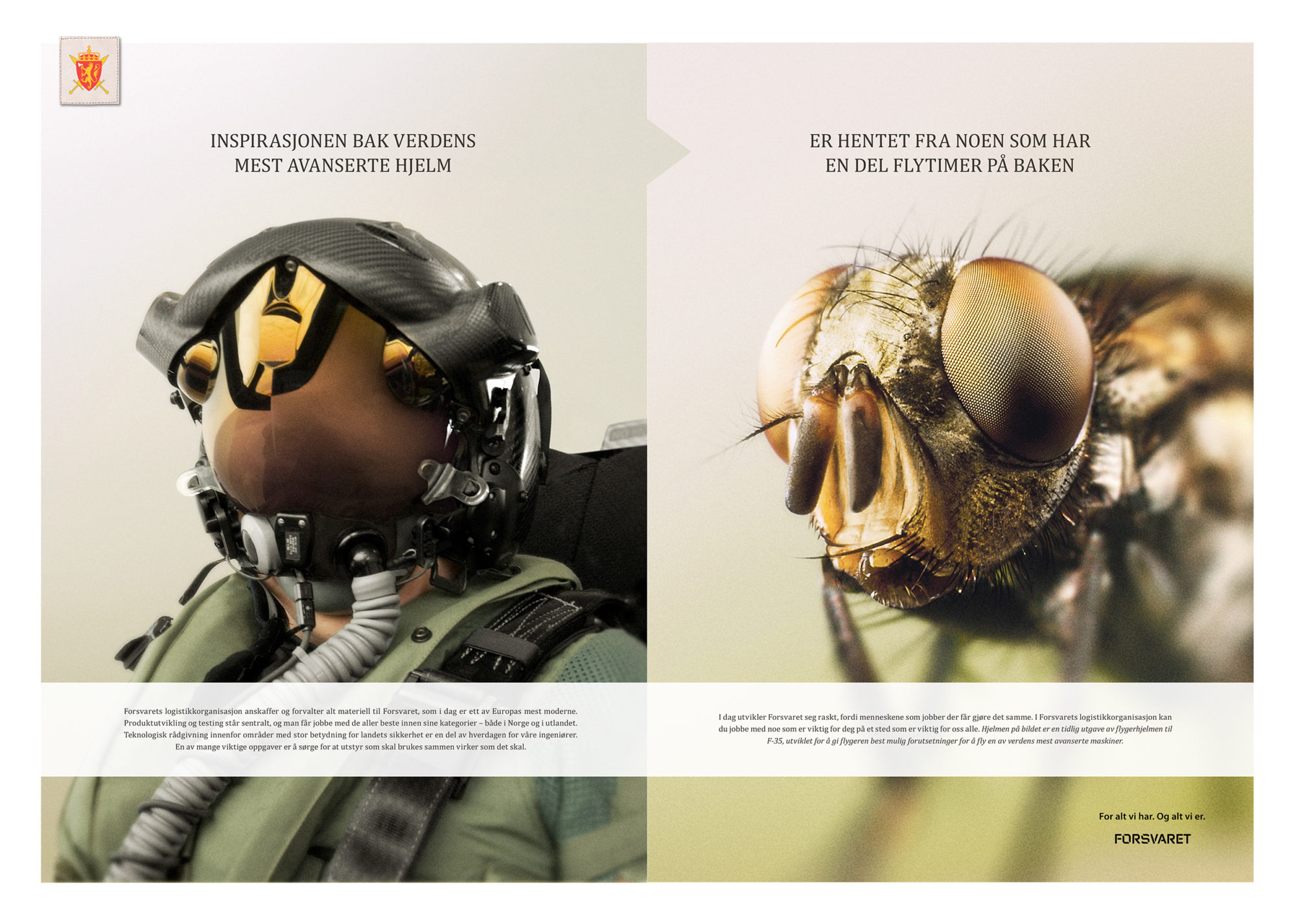 Annonse fra Forsvaret