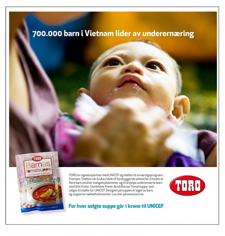 Annonse for TORO tomatsuppe