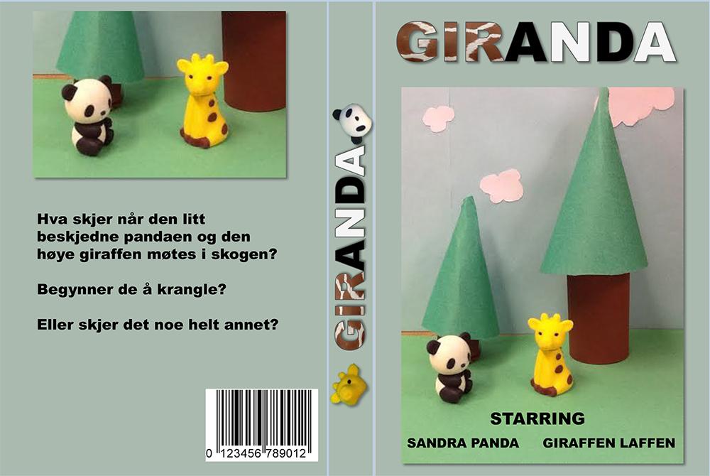 Eksempel på DVD-cover til animasjon
