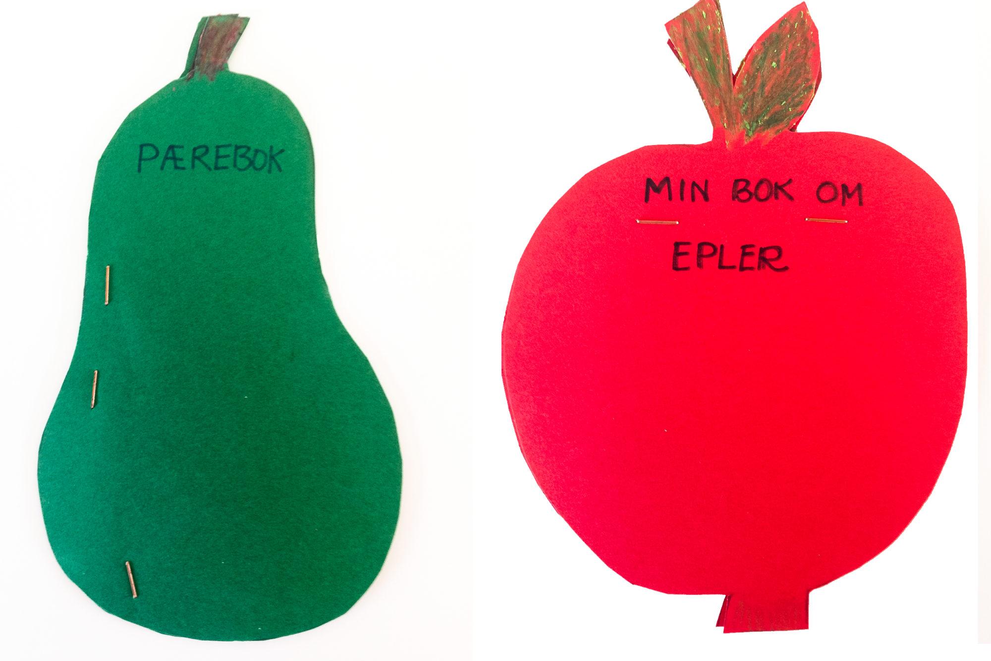 Bøker formet som frukt