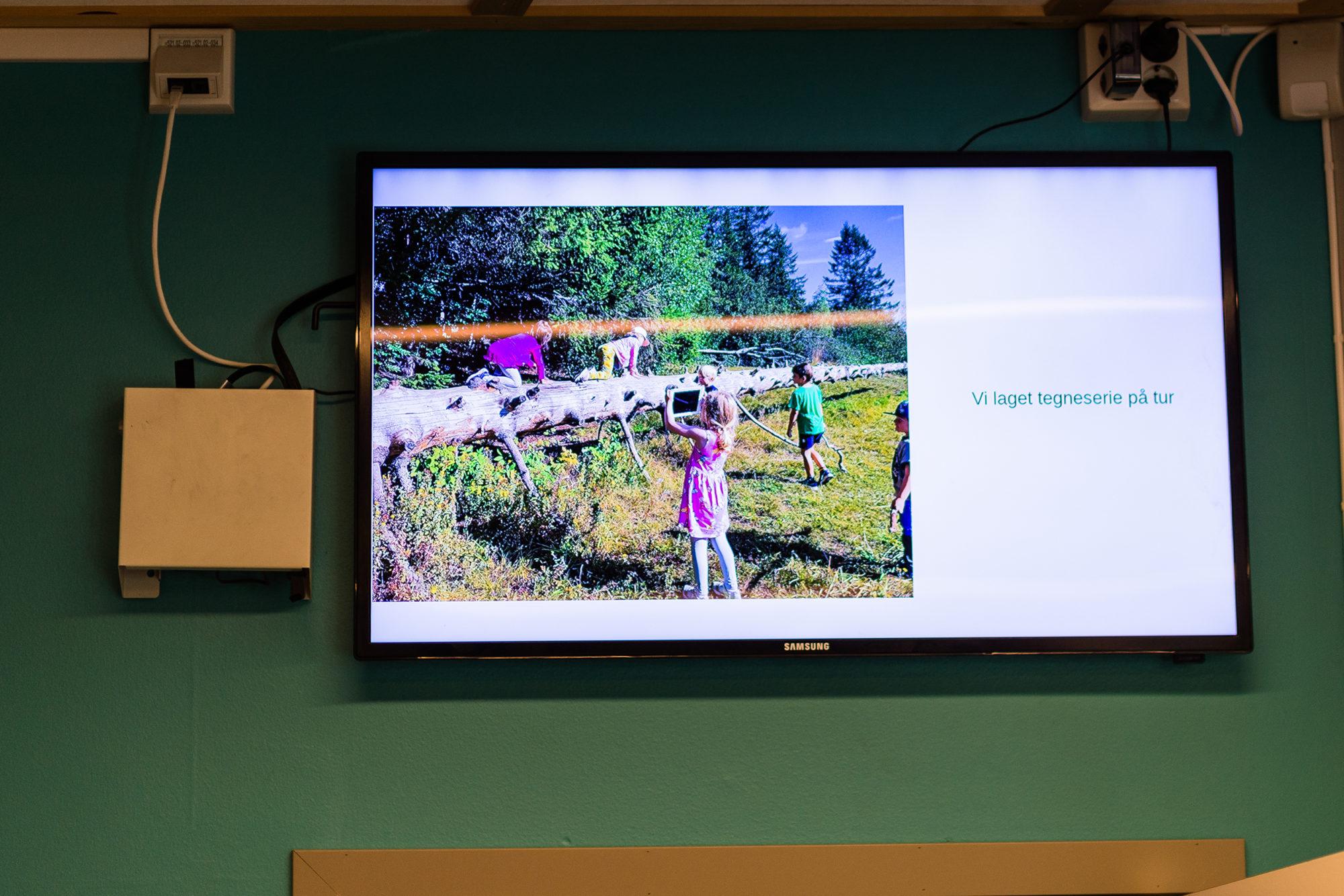 Digital informasjonstavle i barnehagen