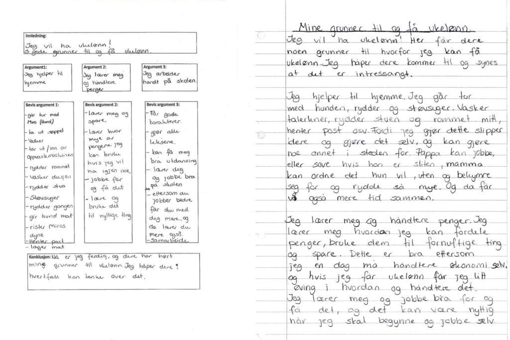 Illustrasjonsbilde ab skriveramme og ferdig tekst