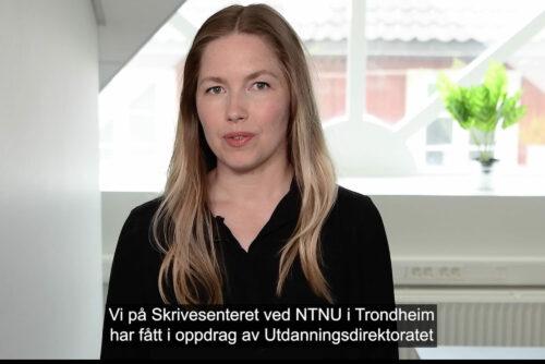 Skjermdump fra informasjonsfilmen «Eksamen i norsk etter ny læreplan for vg3»
