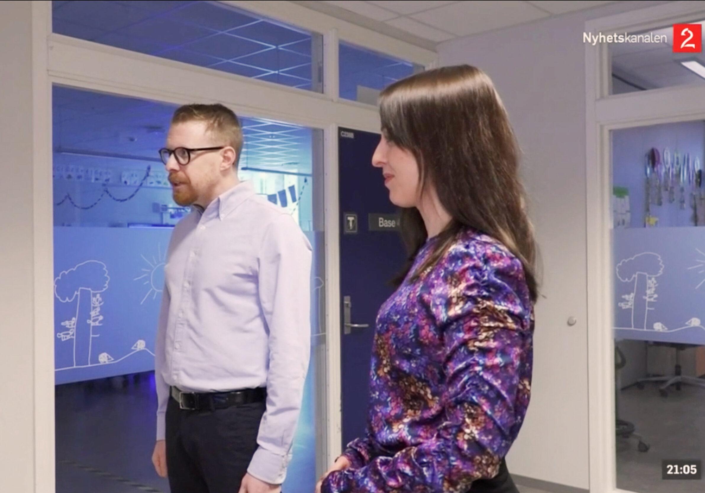 Skjermdump fra Tv2 Nyhetskanalen-reportasje