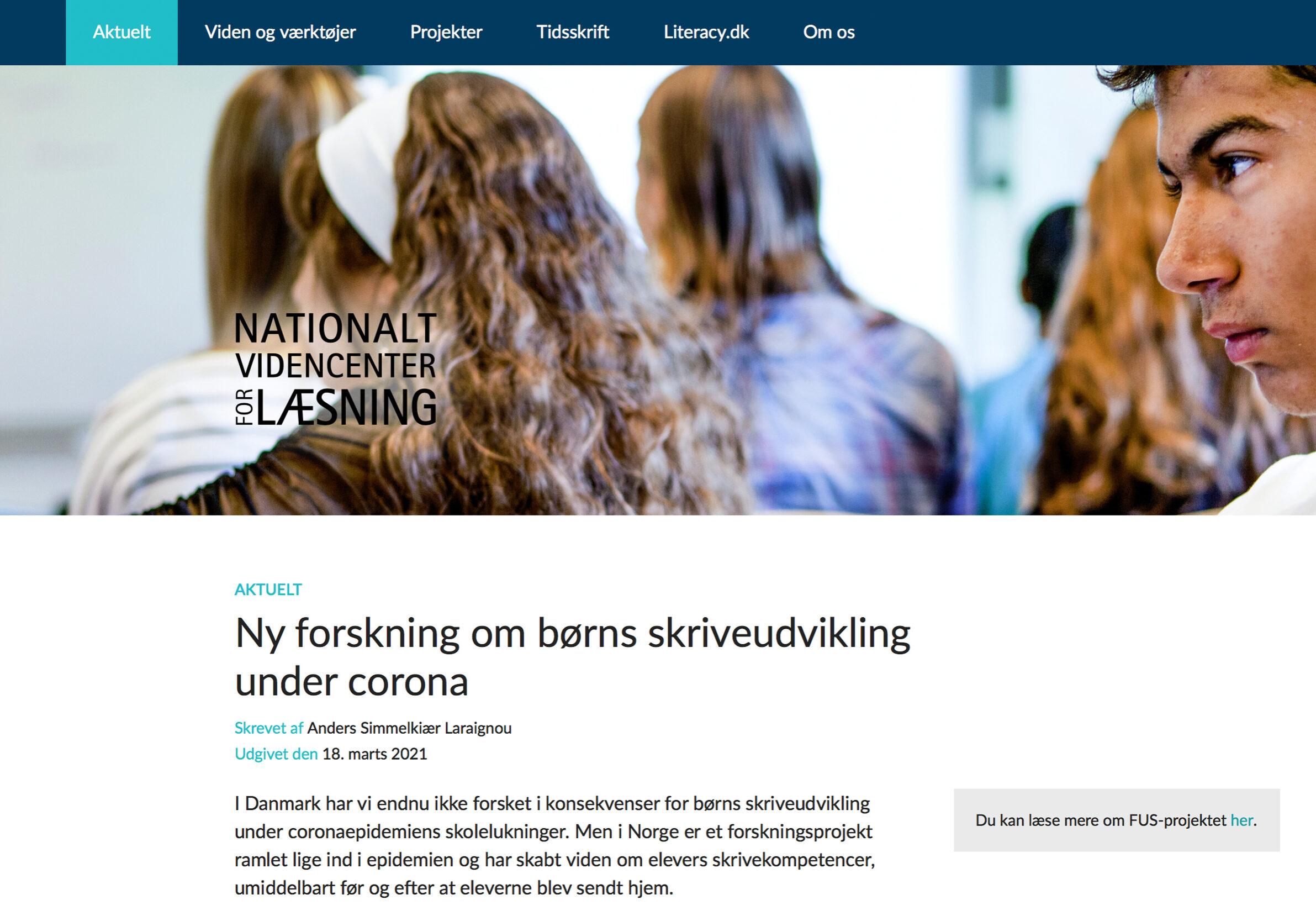 Skjermdump fra www.videnomlaesning.dk